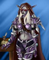 Lady Sylvanas colored by Aydalen
