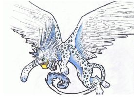 snow leopard griffin by ShelbyTaylor83