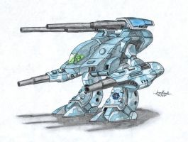 Stone Rhino battlemech by IronHawk711