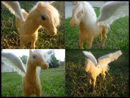 Needle Felted Pegasus Apollo by Jadest