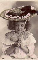 Vintage Little Girl by HauntingVisionsStock