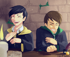 Dan and Phil / Harry Potter AU by Emolise