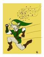 Link vs Bees by Silver-the-kid