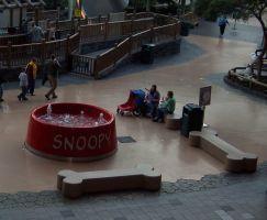 snoopy's dog bowl by JillyFoo
