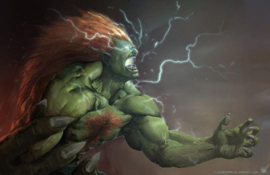 Street fighter: Blanka by Omuk