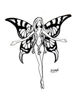 black faerie tattoo by deedeedee123