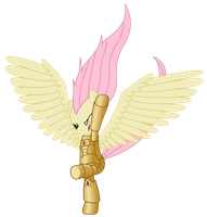 The Angel Fluttershy WIP by Space-Mareine