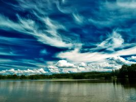 Amazing Sky above Stilec Pond by edinek