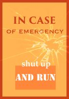 Emergency poster by airblanche