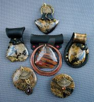 Chohua Jasper Pendants by MandarinMoon