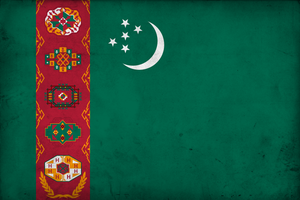 Grunge Flag of Turkmenistan by pnkrckr