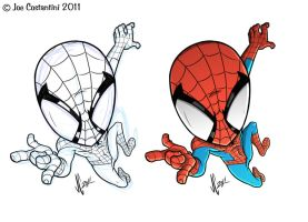 Spidey 'CHIBI' Sketch 11-18-11 by joe-twoanimators
