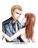 Local Commish: Albert Wesker X Lady Une by Rabbit-Edge