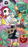 Ghoul's Pokemon Team ~ by Ghoulsnap