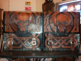Winged Skull Bags by michaelao