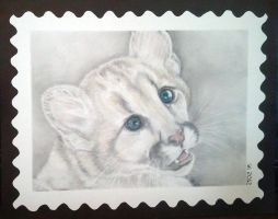 Blue Eyes .:stamp:. by strryeyedreamr27