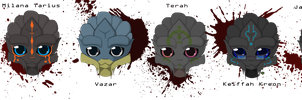 Chibi turian line up by Mudzi