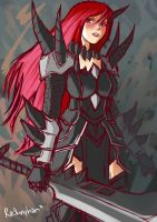 Erza Scarlet in Purgatory Armor by oshirockingham