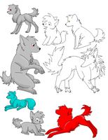 Free linearts by Ruusho