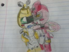 baby LadyBee and Metabee by MedabotPuru