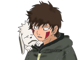 Kiba and Akamaru Coloring by BiscaxAlzack