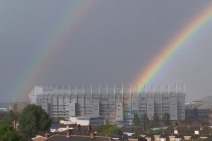 Rainbow over St James Park by Brianetta