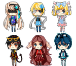 Pixel Doll Commission Batch 1 by kittsay