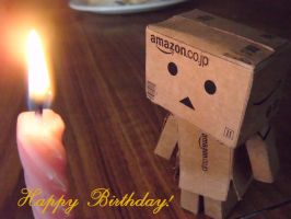 Happy birthday from Danbo 2 by Tigzzz