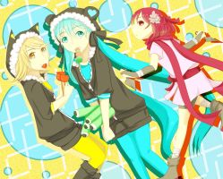 VOCALOID : A FEMALE NINJA BUT I WANT TO LOVE by ICSanimangalovers
