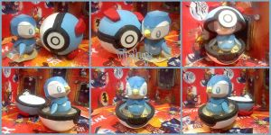 Piplup Chokipeta papercraft by DarkRockerRUS