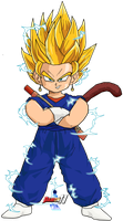 Kid Vegetto SSJ2 (DBM Version) by Dairon11
