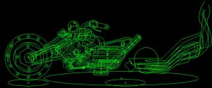 Rogue Cycle Concept Art (Wire Frame) by howlingwolf142