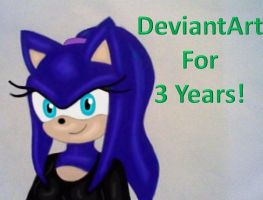 DeviantArt for 3 years! by GothNebula