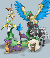 Pokemon White team by PrincessKilvas