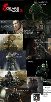 Gears of War 3 Charaters by Samm1323