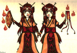 Sisters of Flames- Contest entry by Zenith-Zero