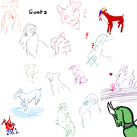Goats...Lots and lots of goats by Kutanra