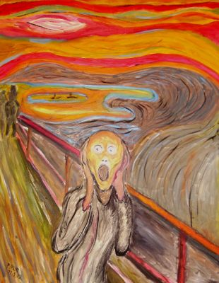 The Scream, Inspired by Munch by Paul Bull by Booth-House-ArtGroup