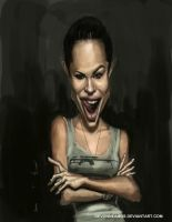 Angelina Jolie speed painting caricature by DevonneAmos