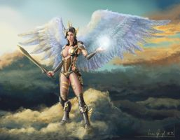 Female Warrior Angel by SimonGangl