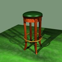 Bar Stool - Blender + OBJ by parrotdolphin
