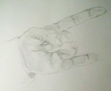 #DailySketchChallenge The Other Hand by Stone-Krush