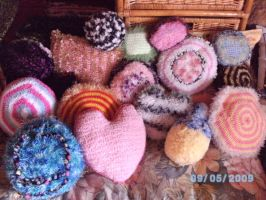crochet cushion collection by PinkuArt