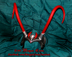 Black, Red and Silver Horned Diadem View #2 by MorganCrone