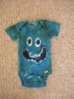 Tie Dye Smiley Face Onesie 2 by Spudnuts