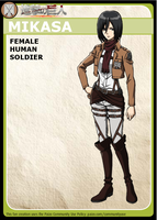 Pathfinder Adventure Card Game Character: Mikasa by redguard153
