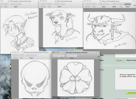 Last Night's Drawings by NetherStray