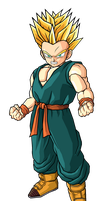 Kid Trunks SSJ2 by SpongeBoss