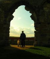 Man And His Dog II by MrWootton