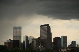 Dark Clouds on Downtown Denver by sidharth0384